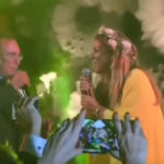 Marriage Cristel Carrisi, Al Bano and Romina Power sing Happiness