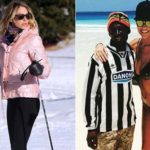Blasi pink candy on the snow, Chiabotto bikini among the Masai: VIPs in relaxation