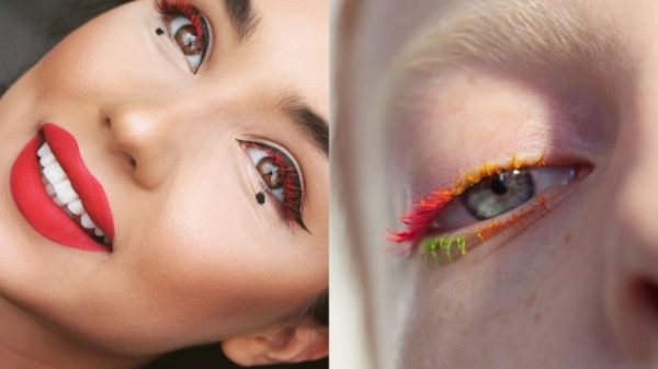 Colored eyelashes: the new makeup trend that depopulates on social media