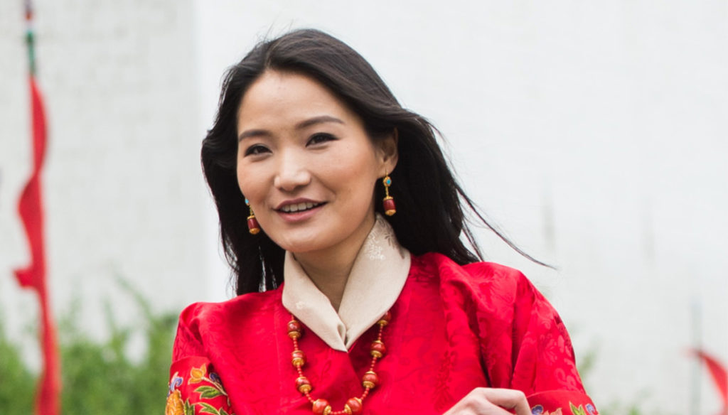 A new Royal Baby is born: blue bow for Queen Jetsun Pema