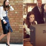 Kate Middleton perfect but too thin with the navy-style suit