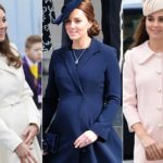 Kate, baby bump tour. And his coats are literally snapped up