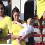 Kate in yellow and William criticism. Nearly risque incident. Photo