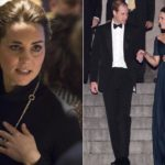 Kate, new slide? Dark circles during the day and recycled dress in the evening