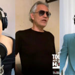 Lady Gaga, Bocelli and Dion sing together and move