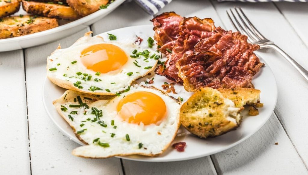 Eggs for breakfast, because they help you lose weight