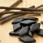 Licorice sticks, possible remedy against acids and bad digestion