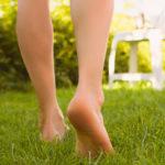 Swollen legs and varicose veins, because walking barefoot