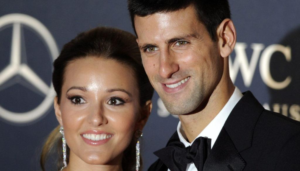 Jelena, la moglie di Novak Djokovic