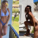 Bianca Guaccero and Anna Tatangelo compete in bikini: the photos on Instagram