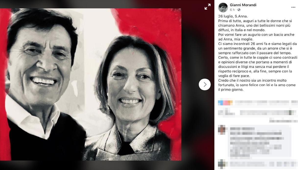 Gianni Morandi and Anna