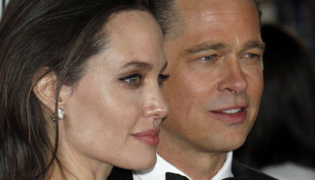 Brad Pitt and Angelina Jolie together again for the launch of their champagne