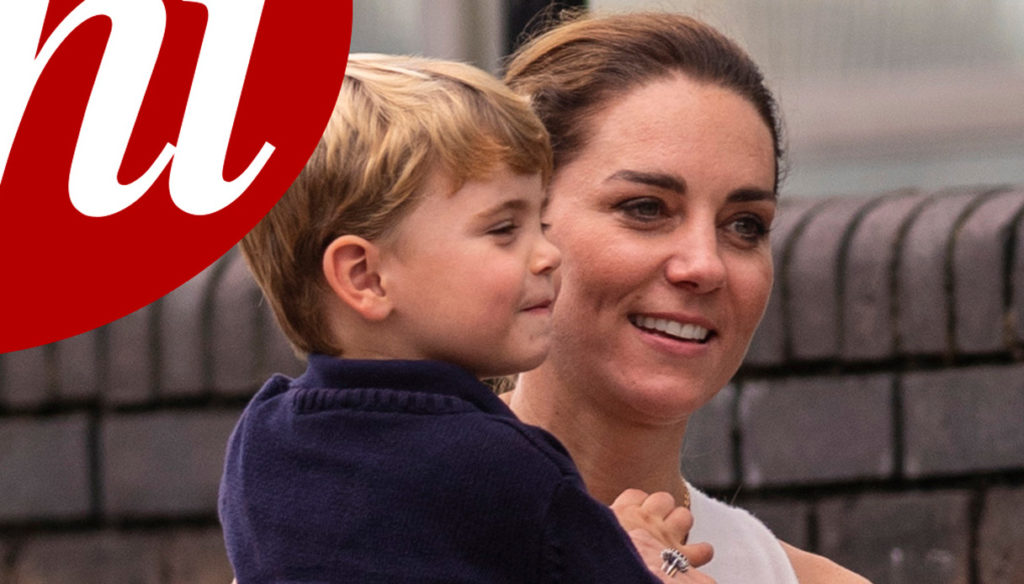 Kate Middleton surprised on the streets of London with her son Louis