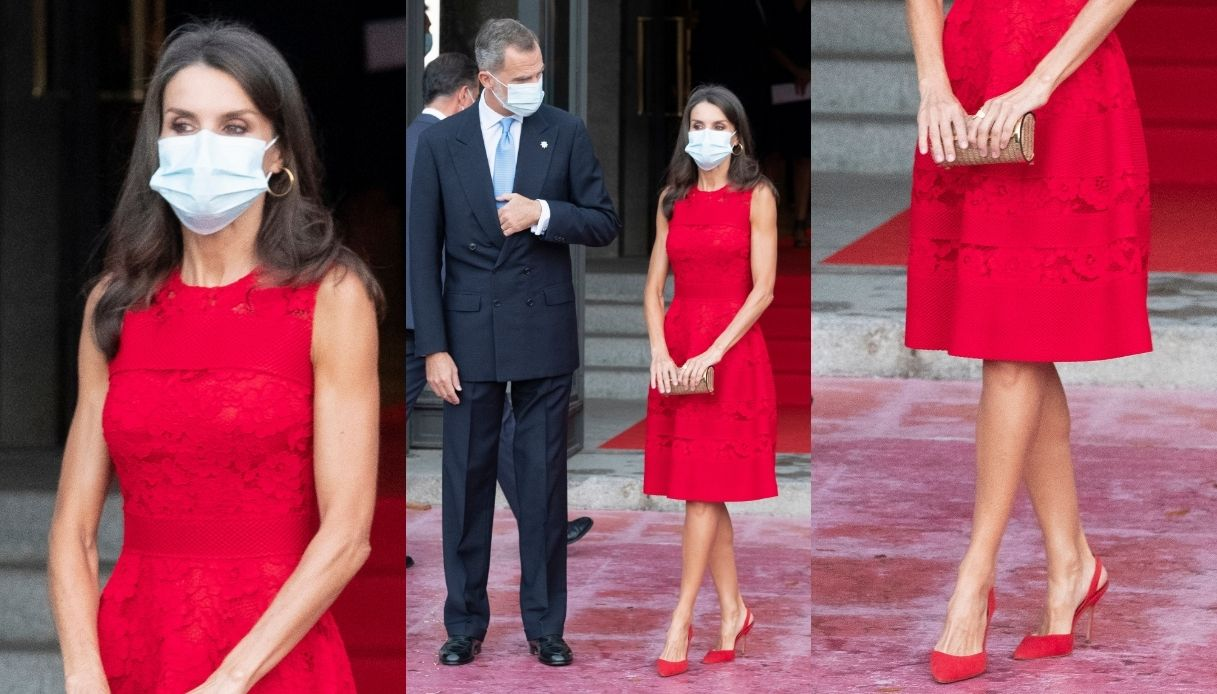 Letizia of Spain gorgeous in red