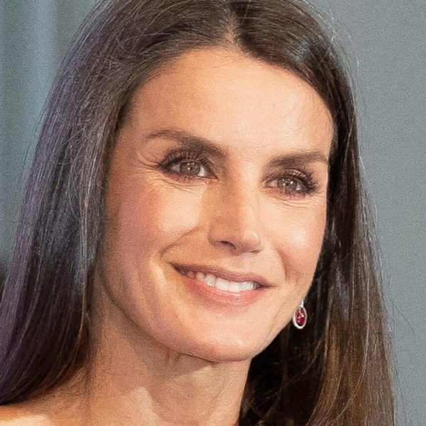 Letizia of Spain, gorgeous in red, sports toned arms and perfect silhouette