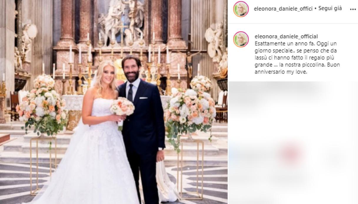 Elenora Daniele, dedicates it for the anniversary to her husband Giulio Tassoni
