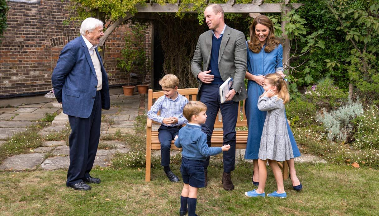 David Attenborough William Kate Middleton sons