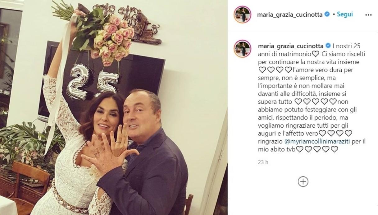 Maria Grazia Cucinotta 25 years of marriage
