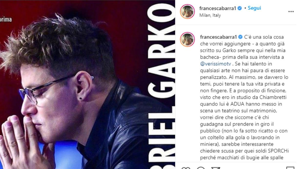 Francesca Barra Instagram