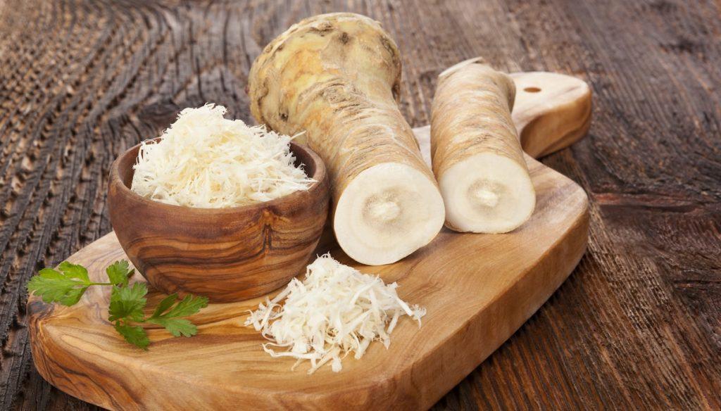 Detox diet with horseradish, the root with antibacterial properties