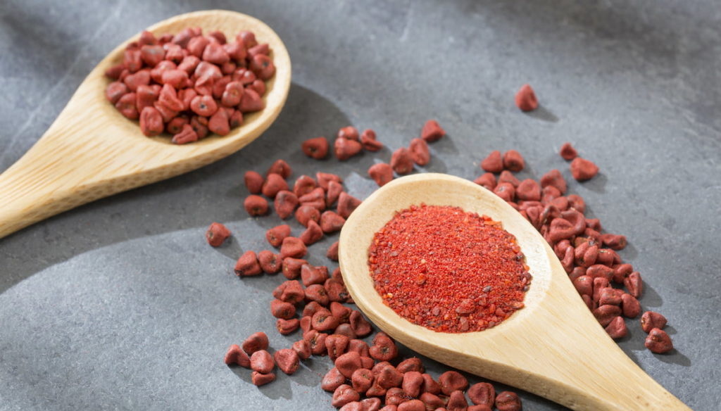 Diet with annatto seeds, with antimicrobial properties