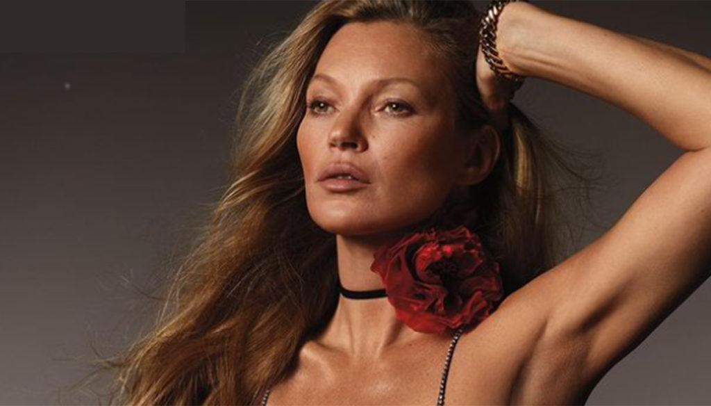 Kate Moss: 46 on the cover of British Vogue, 28 years after the premiere