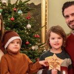 Pregnant Sofia of Sweden shows her tummy in the Christmas card