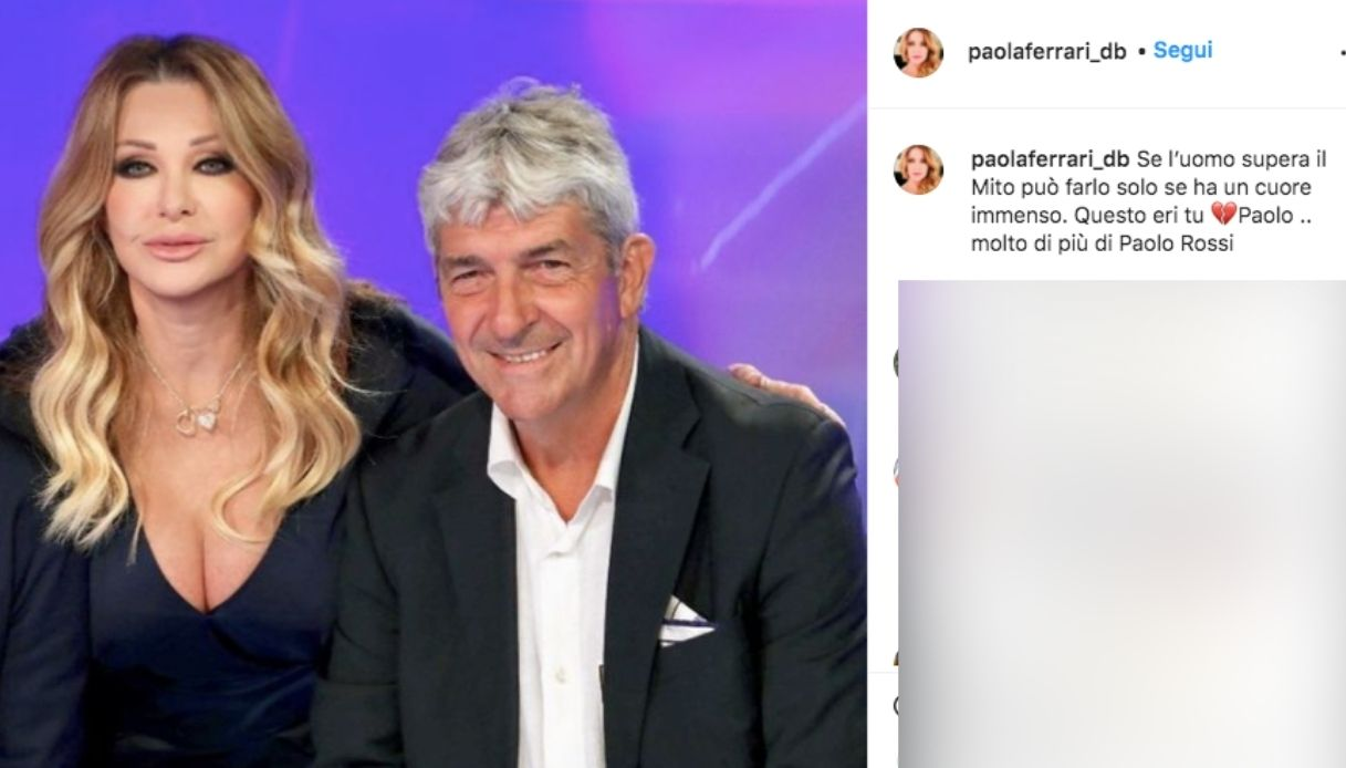 Farewell Paolo Rossi, the touching memory of Paola Ferrari