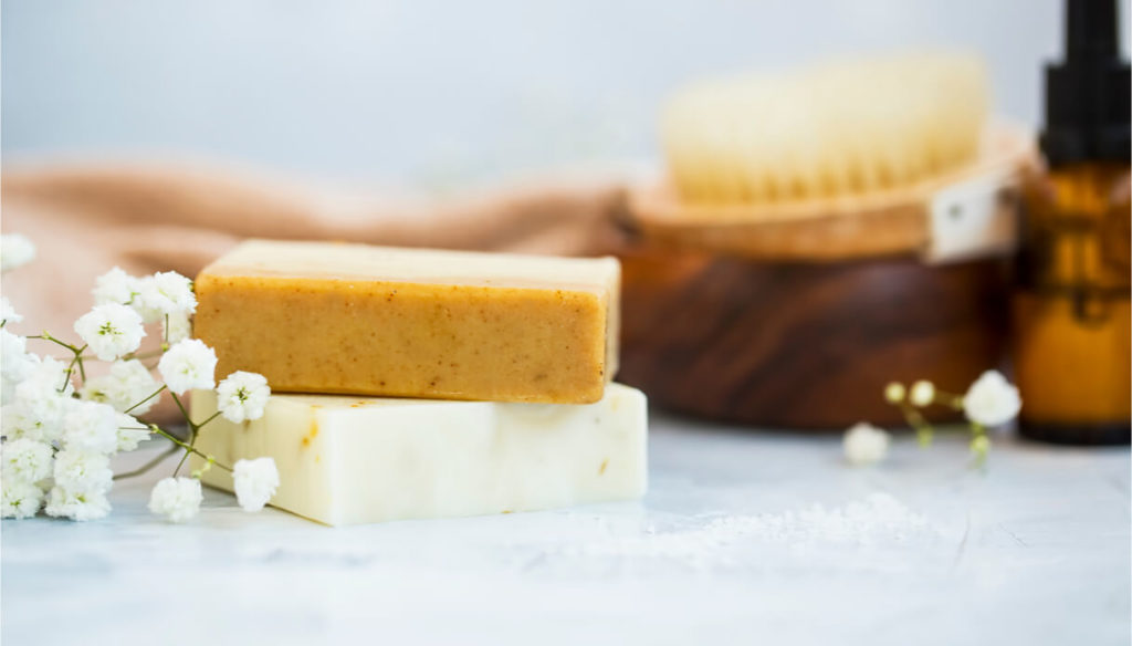 Ingredients and instructions for making homemade soap
