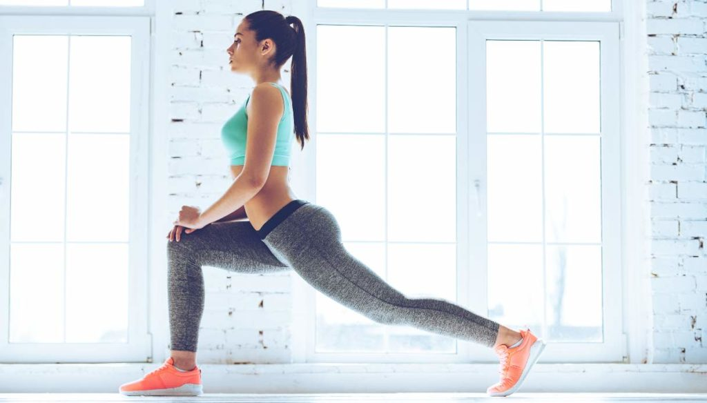 Stretching exercises for abs and buttocks