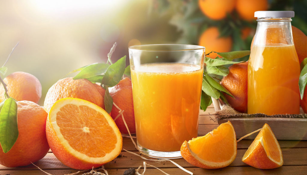 Diet with orange juice, fill up on antioxidants and protect the heart