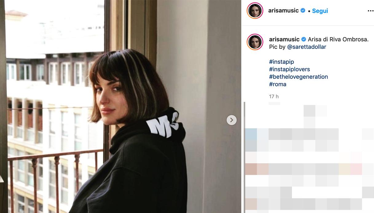 Arisa's post on Instagram