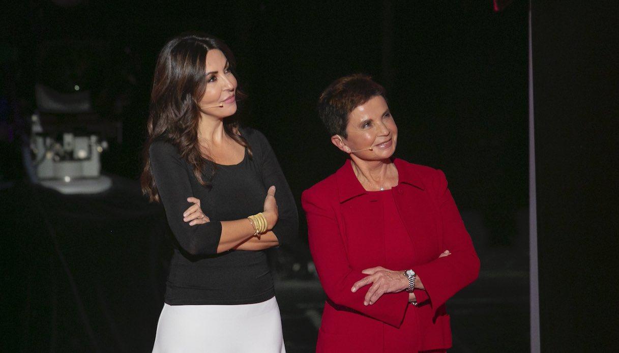Sabrina Ferilli with her mother Ida
