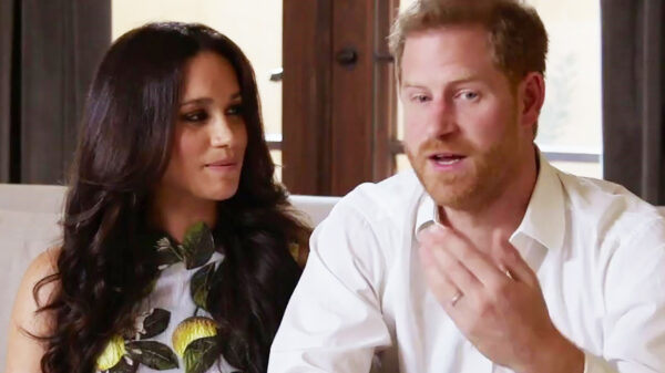 Meghan Markle as Melania Trump: submissive to her husband Harry