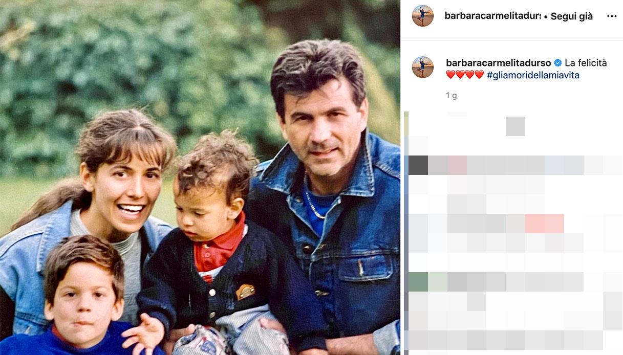 Barbara D'Urso, the post on Instagram