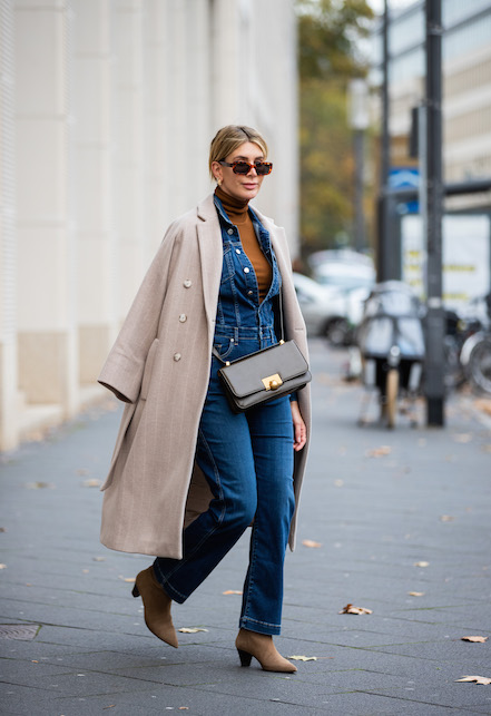 elegant denim total look