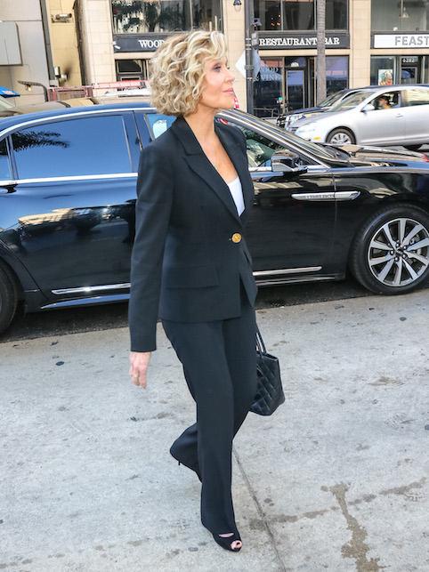 Jane Fonda in a suit