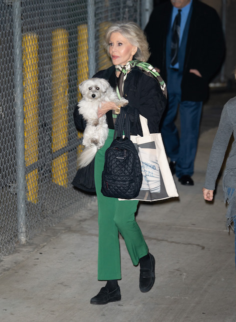 Jane Fonda with the scarf