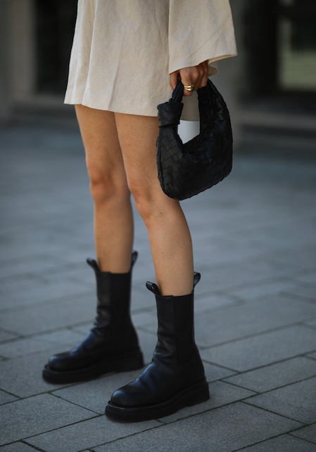 how to wear boots: with the minidress