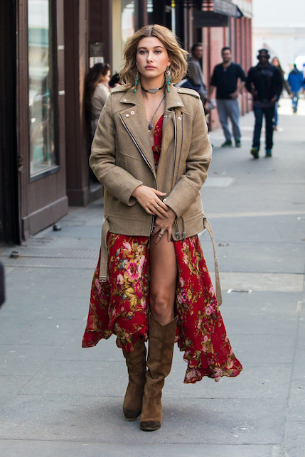 Boho chic look: boots