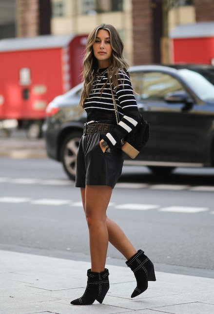 how to wear boots: with shorts