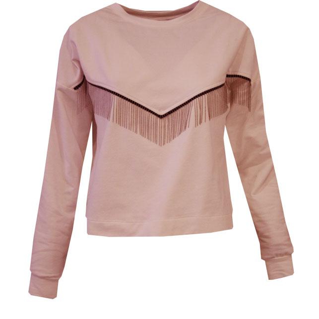 Cinnamon pink sweatshirt - ss 2021