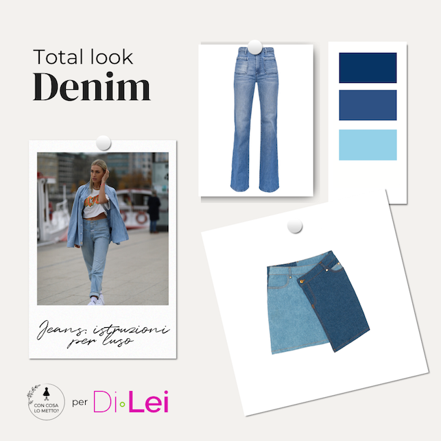 Jeans in the city: how to wear it in a total look version