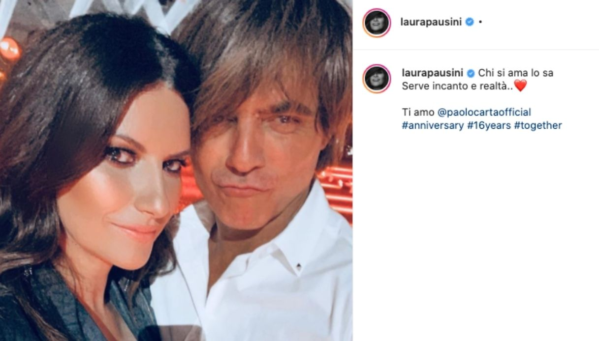 Laura Pausini and the post on Instagram to celebrate the wedding anniversary