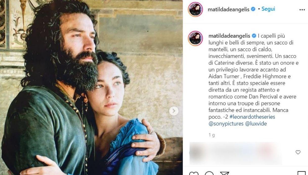 Matilda De Angelis, the post on Instagram