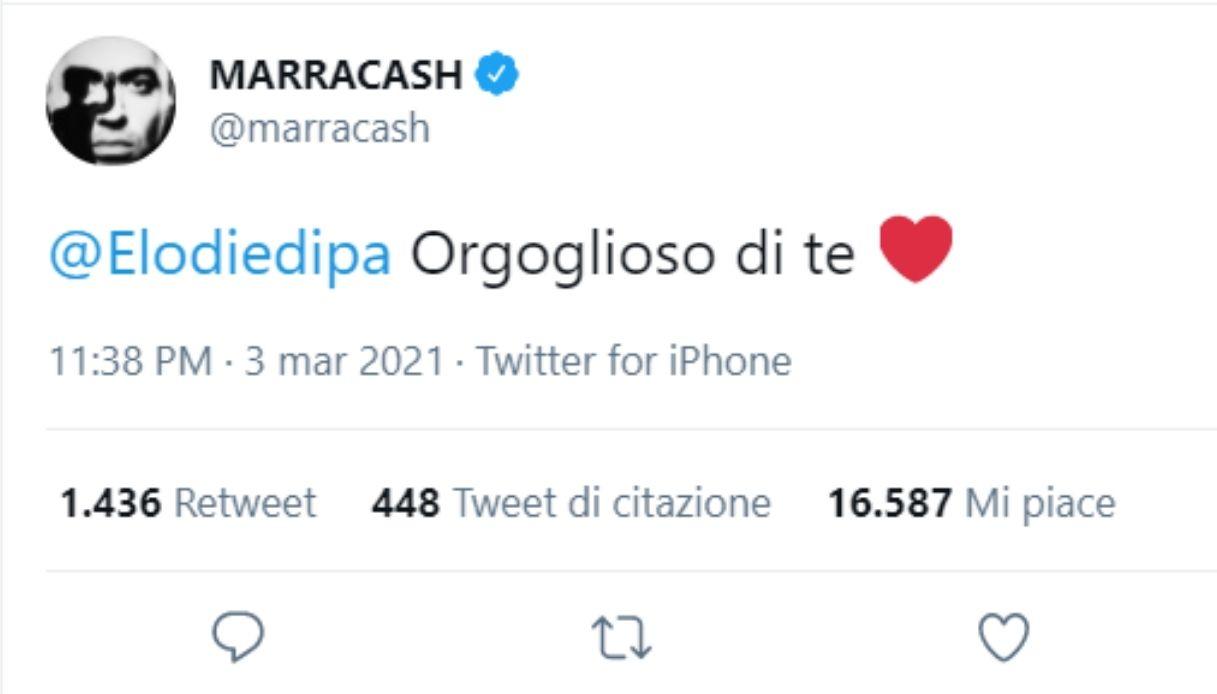 Marracash's tweet