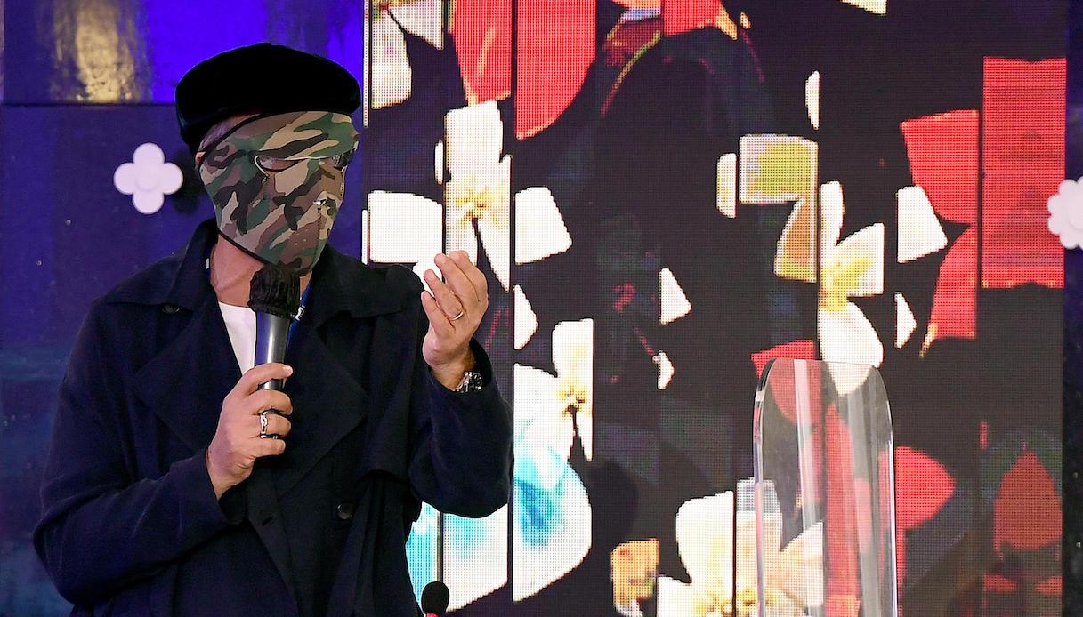 Fiorello at the Sanremo 2021 press conference