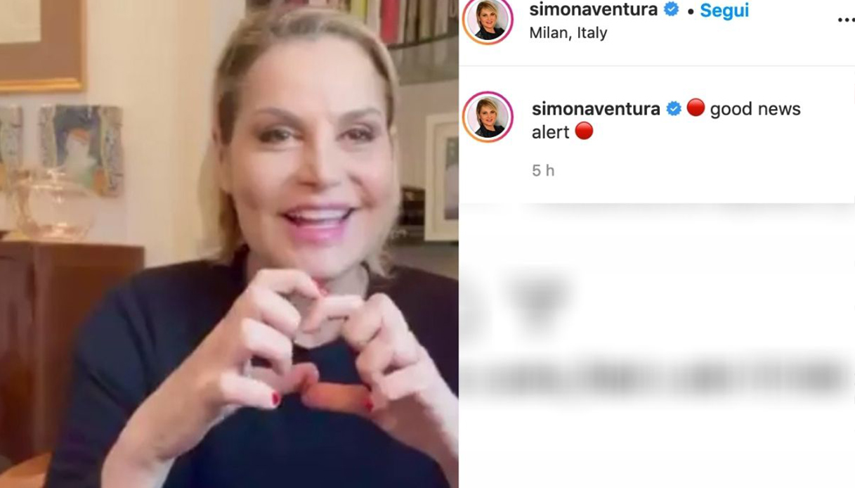 Simona Ventura negative at Covid