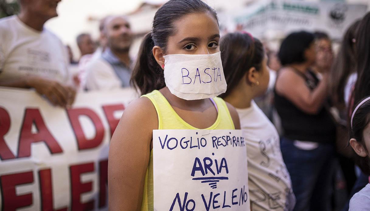 little girl protest
