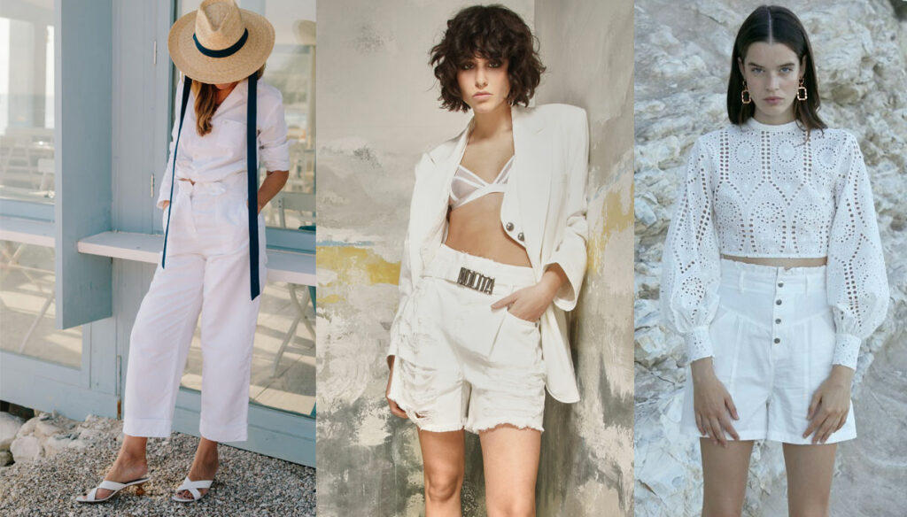 Welcome Spring, let's choose total white
